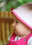 Profile of cute child Royalty Free Stock Photo