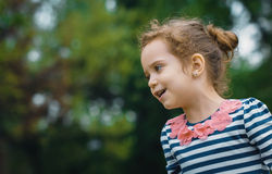 Profile of cute little girl Royalty Free Stock Images