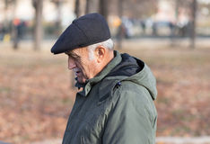 Profile of elderly man. Stock Photography