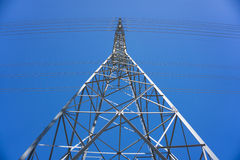 Profile of Electric Tower Stock Images