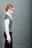 Profile of elegant young businesswoman secretary. Royalty Free Stock Images