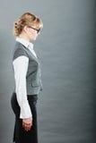 Profile of elegant young businesswoman secretary. Royalty Free Stock Images