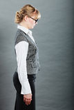 Profile of elegant young businesswoman secretary. Royalty Free Stock Photo