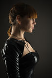 Profile face of a beautiful woman Royalty Free Stock Photo
