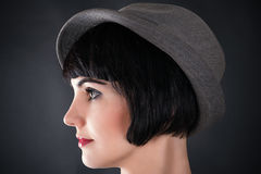 Profile of a face of a beautiful woman royalty free stock image