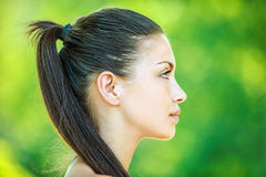 Profile of face young beautiful Royalty Free Stock Images