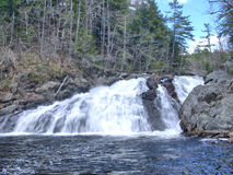 Profile Falls in New Hampshire. A popular site in Bristol, NH, with an easy walk from the parking lot and hiking trails royalty free stock image