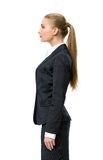 Profile of female business man Stock Photo