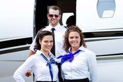 Profile of flight crew Stock Image