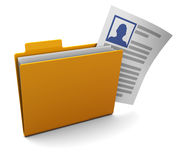 Profile folder Royalty Free Stock Photography