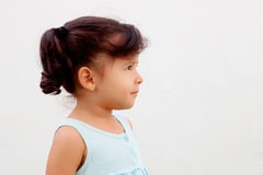 Profile of funny little girl Stock Photography