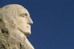 Profile of George Washington. From Mount Rushmore Royalty Free Stock Images