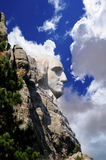 Profile of George Washington. At Mount Rushmore Stock Photo