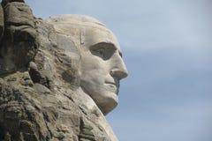 Profile of George Washington. At Mount Rushmore, South Dakota Stock Photo