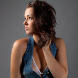 Profile of Gorgeous Young Woman Royalty Free Stock Images