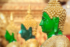 Profile of green Buddha statue at Wat Phra That Doi Suthep, Chiang Mai, Thailand Royalty Free Stock Photo