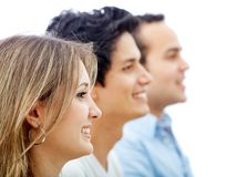 Profile of a group of people Stock Image