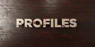 Profile - grungy drewniany nagłówek na klonie - 3D odpłacający się królewskość bezpłatny akcyjny wizerunek Zdjęcie Stock