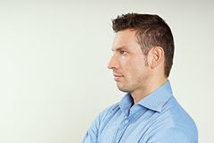 Profile of handsome man royalty free stock images