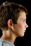 Profile, handsome preteen boy Stock Photos