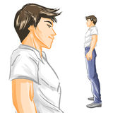 Profile of handsome young man Stock Photography