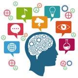 Profile head brain thinking innovation. Illustration eps 10 Stock Photography