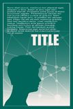 Profile of the head of a man. Brochure template Stock Image