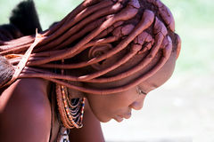 Profile of a Himba woman. Stock Photography