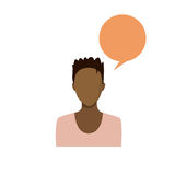 Profile Icon African American Female Avatar Woman Portrait Casual Person Silhouette Face Stock Photography
