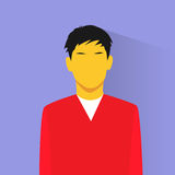 Profile icon asia male avatar portrait casual Royalty Free Stock Image