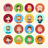 Profile Icon Avatar Image Group Casual People Big Crowd Diverse Ethnic Mix Race Banner Stock Photo