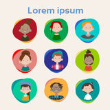 Profile Icon Avatar Image Group Casual People Big Crowd Diverse Ethnic Mix Race Banner Royalty Free Stock Images