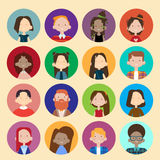 Profile Icon Avatar Image Group Casual People Big Crowd Diverse Ethnic Mix Race Banner Stock Photography