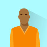 Profile icon bold african american male avatar Stock Photo