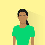 Profile icon female african american avatar woman Royalty Free Stock Photography