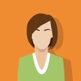 Profile icon female avatar woman portrait Royalty Free Stock Photos