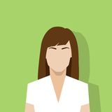 Profile icon female avatar woman portrait. Casual person silhouette face flat design vector Stock Photography
