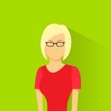 Profile icon female avatar woman wear eye glasses Stock Photos