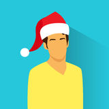Profile Icon Hispanic Male New Year Christmas Royalty Free Stock Image