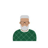 Profile Icon Male Avatar Man, Hipster Cartoon Guy Beard Portrait, Casual Person Silhouette Face. Flat Vector Illustration Stock Image