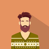 Profile Icon Male Avatar Man Hipster Style Fashion Stock Photos