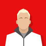 Profile icon male avatar portrait casual person. Silhouette face flat design vector Royalty Free Stock Image