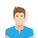 Profile icon male avatar portrait casual person Royalty Free Stock Photos