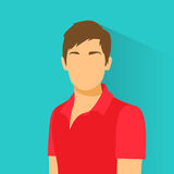 Profile Icon Male Avatar Portrait Casual Person. Silhouette Face Flat Design Vector Illustration Stock Images