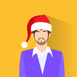 Profile Icon Male New Year Christmas Holiday Red Royalty Free Stock Photo
