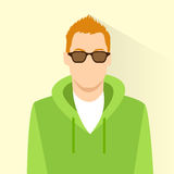 Profile icon male wear glasses avatar portrait Royalty Free Stock Images