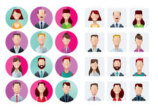 Profile icons office people Stock Photos
