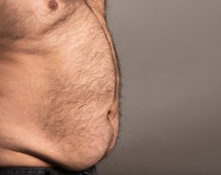 Profile image of obese man Stock Image