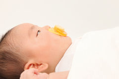 Profile of infant Royalty Free Stock Photo