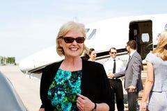 Profile of lady passenger Royalty Free Stock Image